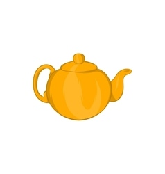 Orange teapot icon cartoon style vector