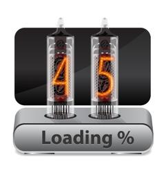 Loading progress indicator vector