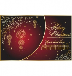 abstract Christmas illustration vector image vector image