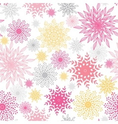 Abstract floral vignettes seamless pattern vector