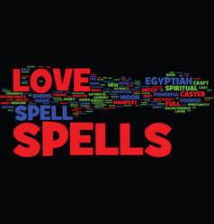 Ashra s love spell review text background word vector