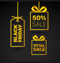 Black friday labels set black friday sale clipart vector