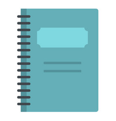 Blue closed spiral notebook icon isolated vector