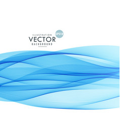 Blue wave background on white background vector