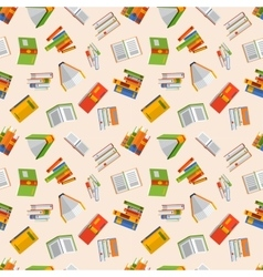Books seamless pattern vector