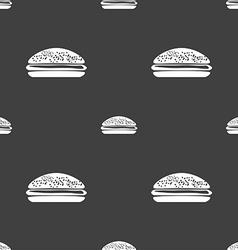 Burger hamburger icon sign seamless pattern on a vector