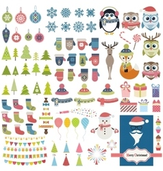Christmas theme set vector