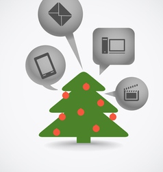 Christmas tree and different gifts vector image