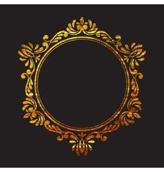 Elegant luxury retro floral gold frame vector