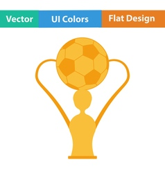 Flat design icon of football cup vector