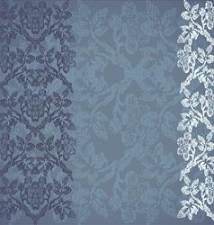 Floral border vertical background vintage vector