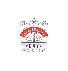 fourth of july united stated independence day - vector image