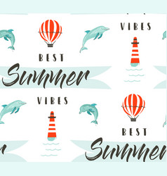 hand drawn abstract summer time vector image