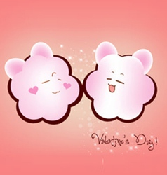 Happy valentine couple emotions vector