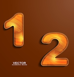 icons wood texture numbers 1 2 vector image vector image