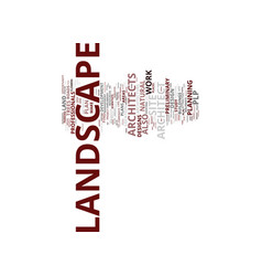 Landscape architect plp text background word vector