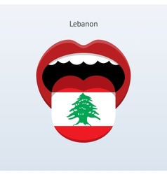 Lebanon language abstract human tongue vector