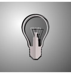 lightbulb cut paper vector image vector image