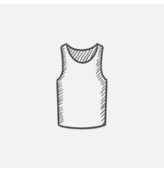Male singlet sketch icon vector image vector image
