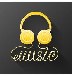 Music headphones vector