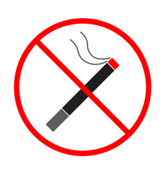 No smoke sign and symbol smoke prohibited icon vector