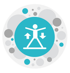 of sport symbol on exercise vector image vector image