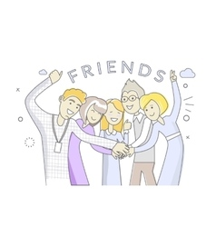 People friends man and woman design vector