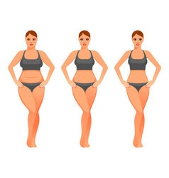 pretty woman before and after diet vector image