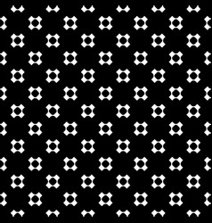 Seamless pattern with perforated crosses vector