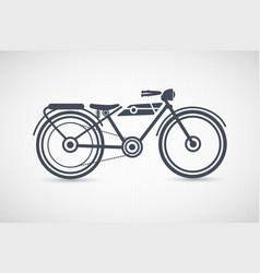 Vintage retro motorcycle vector