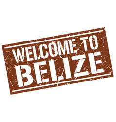 Welcome to belize stamp vector