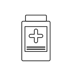 Medicine jar medical health care icon vector