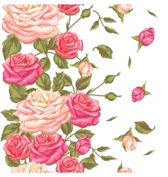Seamless pattern with vintage roses decorative vector