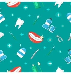 Healthy Teeth Dental Seamless Pattern vector image