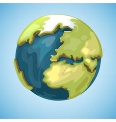 Cartoon earth planet globe in vector image