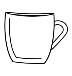 Cup beverage isolated icon vector