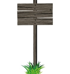 Wooden sign board vector