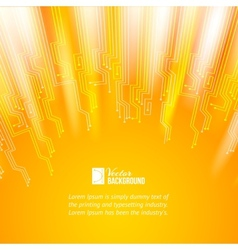 Abstract orange lights background vector