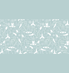Silver grey and white yoga poses seamless vector