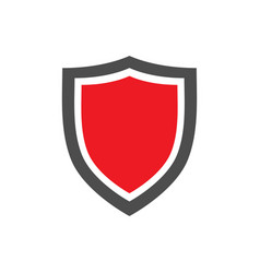 Protection shield icon with red center placed on vector