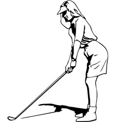 Dr00072 golf woman02 vector