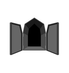 open doors isolated door to hell unblock black vector image