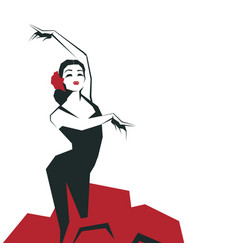 Flamenco dancer in expressive impressive pose vector