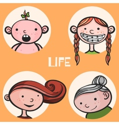 Woman life cycle vector