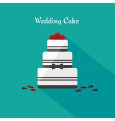 Wedding cake icon in the flat style vector