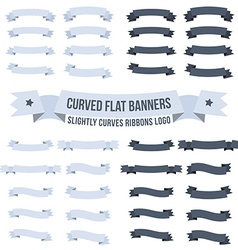 Curved banners vector