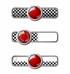 race badges vector image