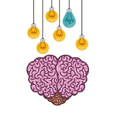 Brain thinking design vector