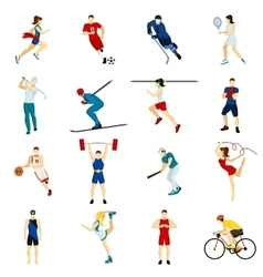 People sport icon set vector