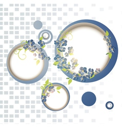 Abstract forget-me-not flower frames vector
